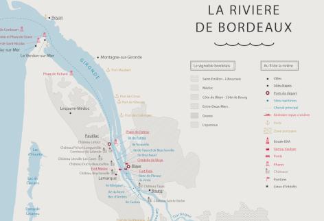 carte estuaire de la gironde